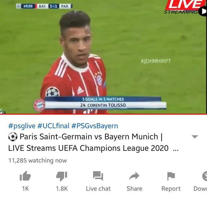 11 mil personas vieron la final Champions League fake