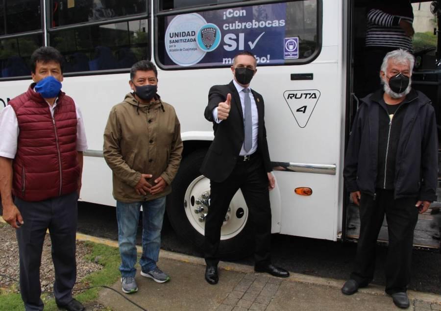 Cuajimalpa refuerza sanitización en colonias y transporte público
