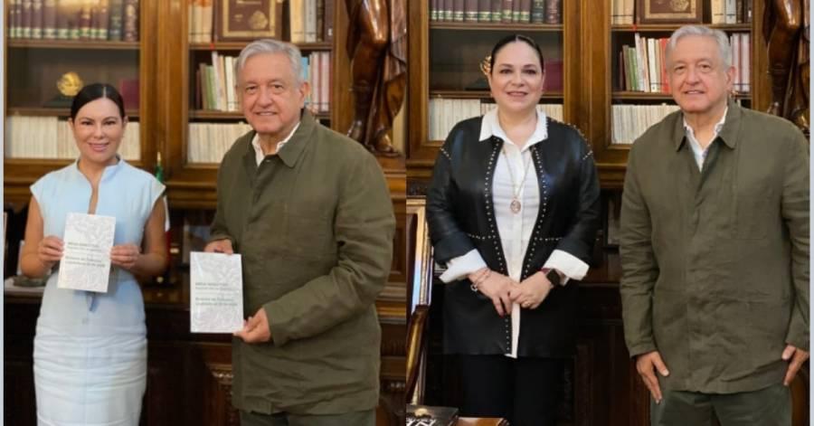 López Obrador se reúne con las presidentas del Senado y la Cámara de Diputados