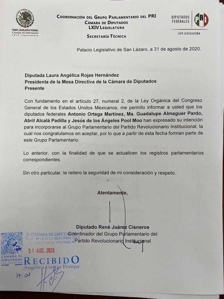 Ni con Los Chuchos, PRI se hizo de la Mesa Directiva