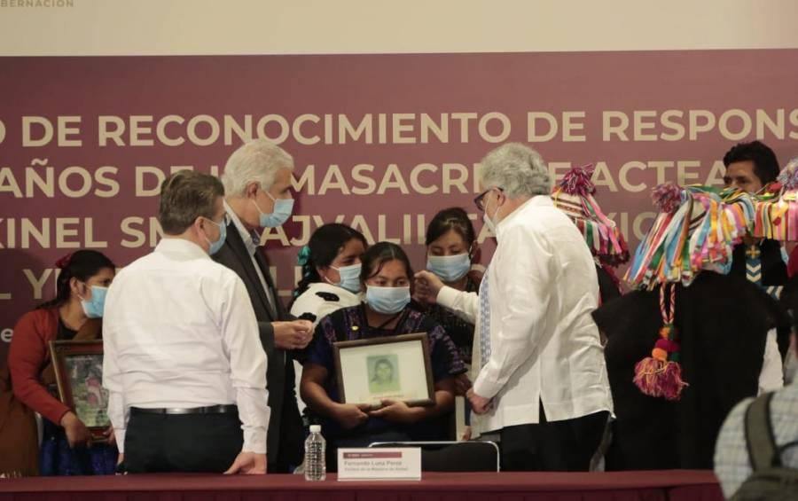 Autoridades ofrecen disculpas públicas a víctimas de Acteal