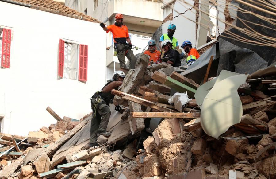 Detectan señales de vida bajo escombros en Beirut, casi un mes después de la explosión