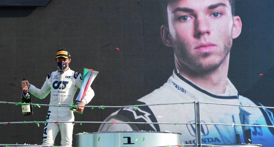 """¡Sorpresa! Gasly de Alpha Tauri, gana el GP de Italia; """"Checo"""" termina décimo"""
