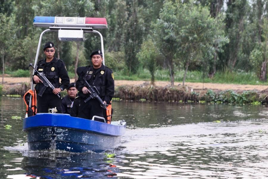 Patrullan nuevamente los embarcaderos de Xochimilco