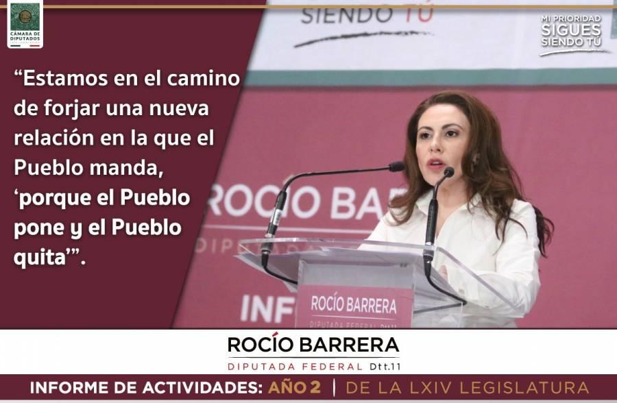 La 4T, pasó la prueba de la pandemia: Rocío Barrera