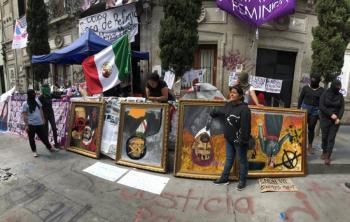 Colectivos feministas exigen la renuncia de Rosario Piedra a la CNDH
