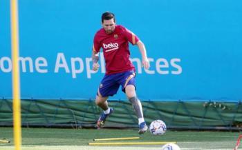 Messi regresa a los entrenamientos con el Barcelona