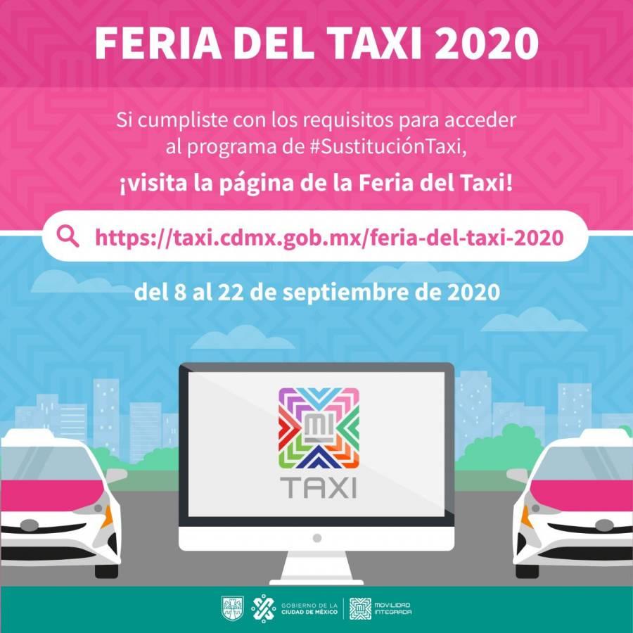 """Semovi realizará virtualmente la """"Feria del Taxi"""" por Covid-19"""