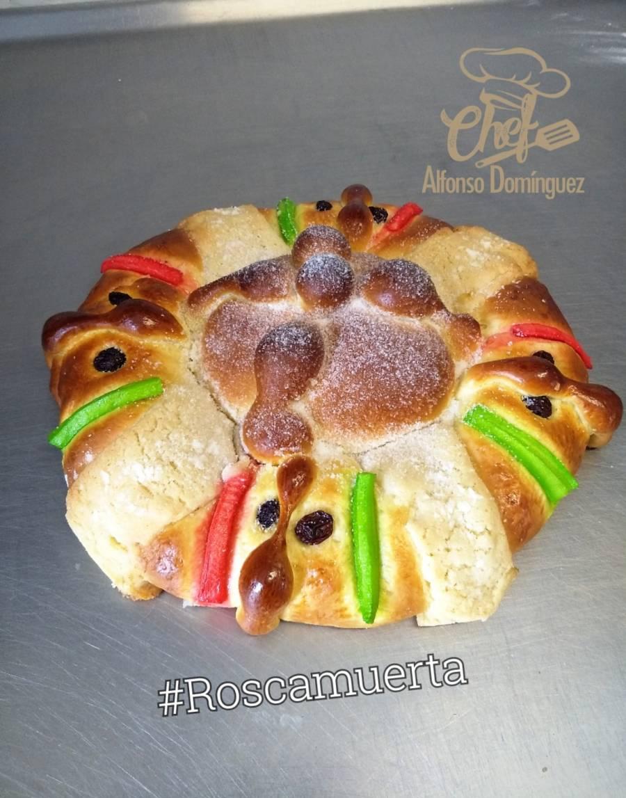 La Roscamuerta: Fusión del pan de muerto y la rosca de Reyes