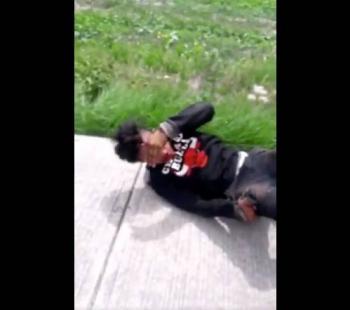 En Zumpango, vecinos propinan golpiza a presunto ladrón