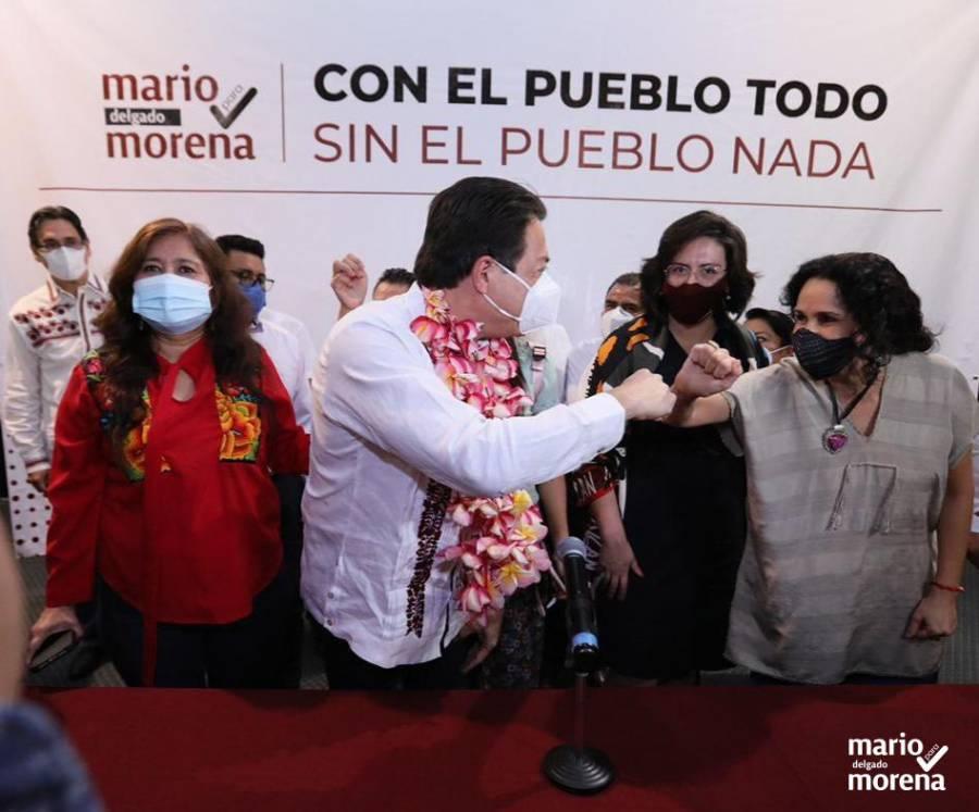 Mario Delgado en gira por Oaxaca buscando dirigencia nacional de Morena