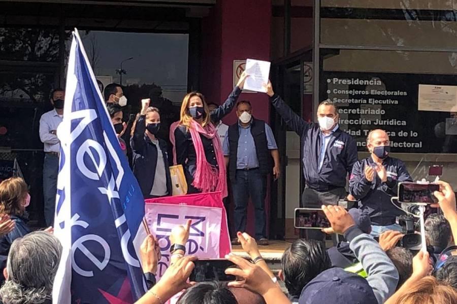 """Calderón y Zavala impugnan negativa del INE a """"México Libre"""""""