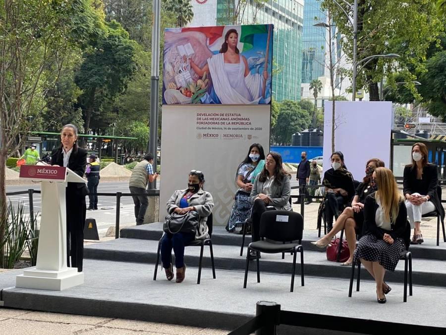 En honor a mujeres históricas, inauguran la estatua Mexicanas Anónimas Forjadas de la República