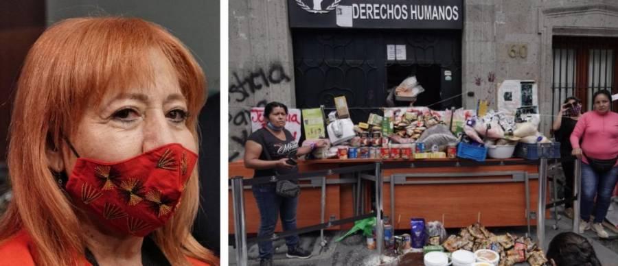 Rosario Piedra: En CNDH comíamos arroz y frijoles, no cortes gourmet