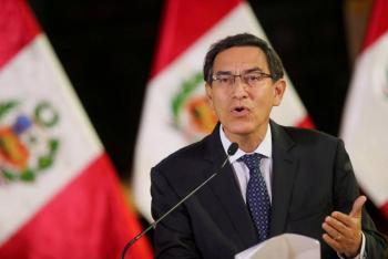 Gobierno de Perú presenta recurso para suspender el juicio político contra Vizcarra