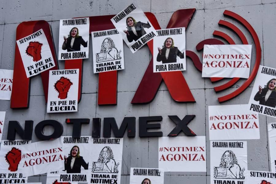Trabajadores de Notimex lanzan grito de justicia a 208 días de Huelga
