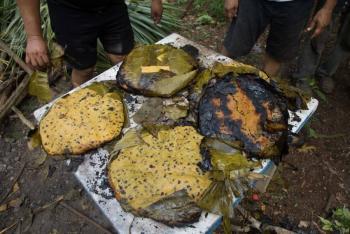 Castigo huasteco: Mataban y se comían los violadores en un tamal gigante