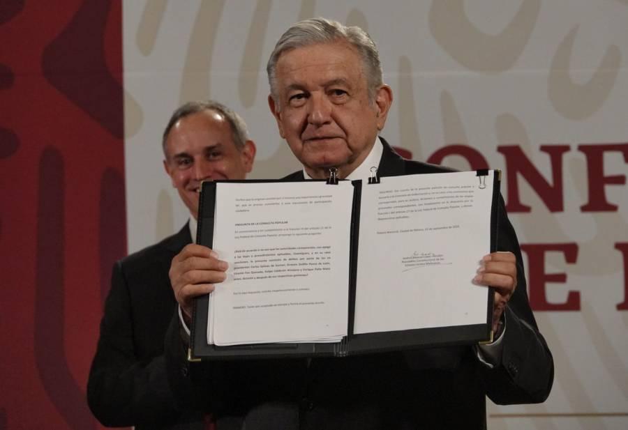 AMLO inicia ruta para enjuiciar a expresidentes