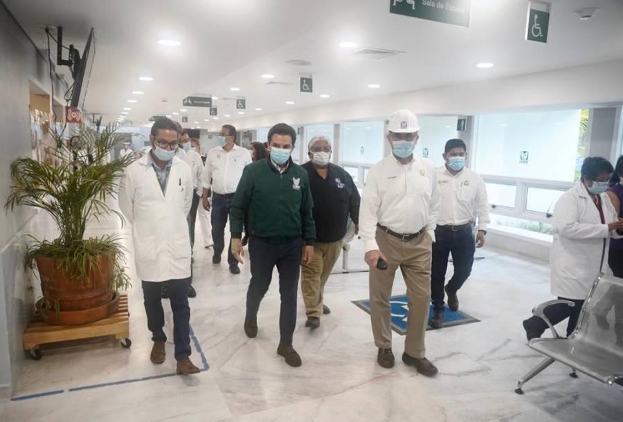 Supervisan rehabilitación de hospital dañado en el sismo del 19S en Morelos