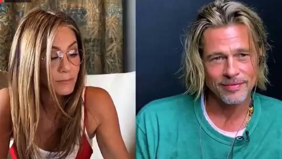 Candente escena en reencuentro de Brad Pitt y Jennifer Aniston enciende las redes