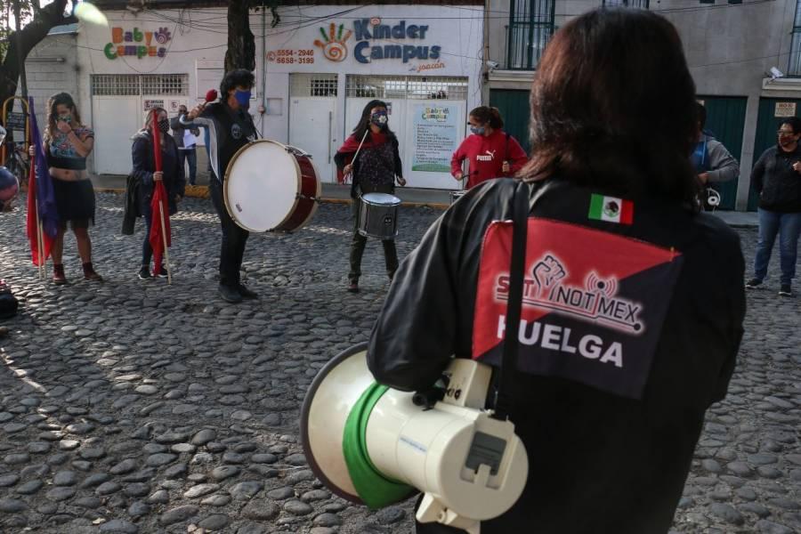 Denuncian intimidación y amenazas en contra de sindicatos solidarios con SutNotimex