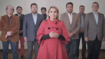 Se retira de la campaña electoral la Presidenta interina de Bolivia