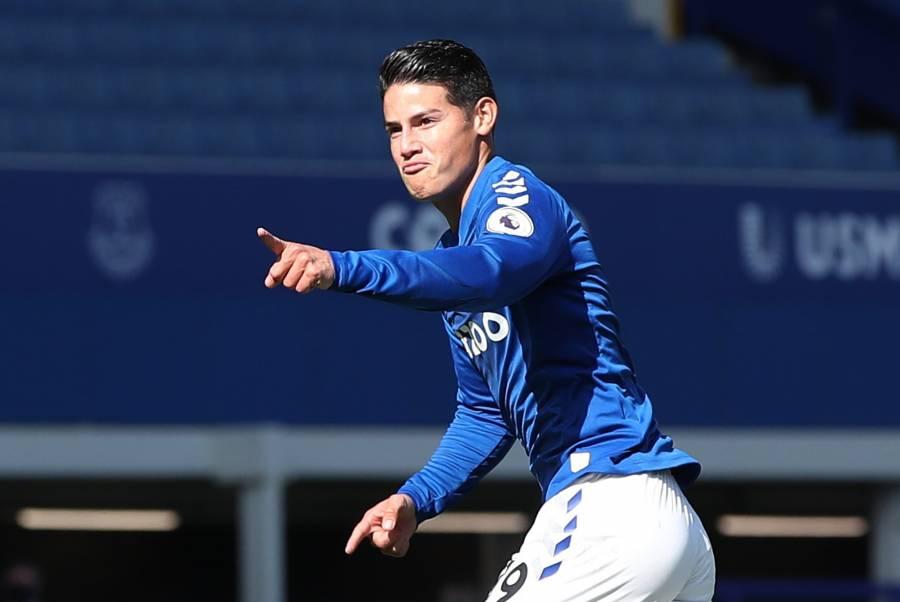James Rodríguez brilla en la goleada del Everton
