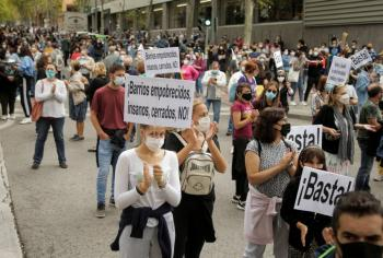 900 mil vuelven al encierro en  Madrid para frenar rebrotes