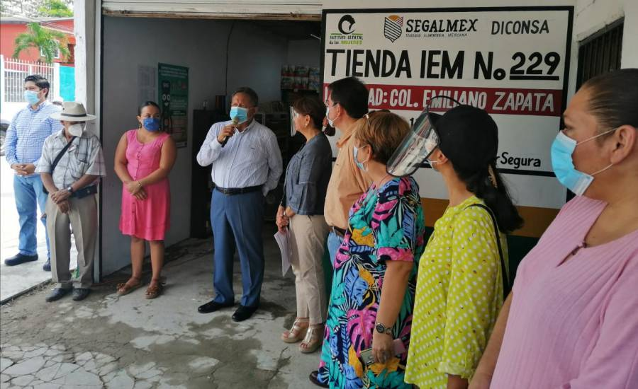 Abren tiendas Segalmex atendidas por mujeres víctimas de violencia en Tabasco