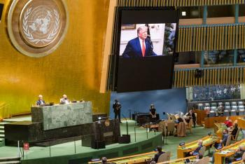 Trump exige en discurso ONU tomar acciones contra China por el Covid-19