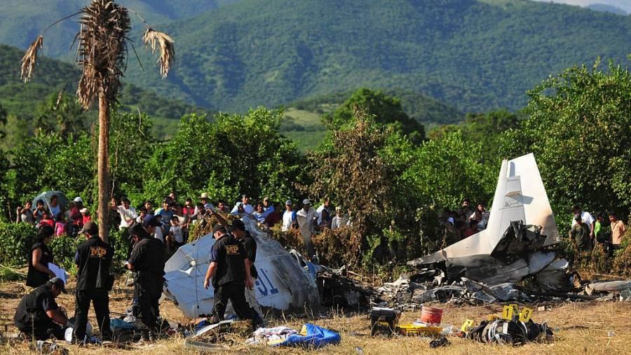 Robada en México y de paso por Venezuela, aeronave se desploma en Guatemala