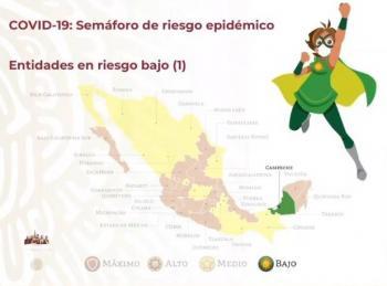 Campeche, primer estado en pasar al semáforo verde de COVID-19