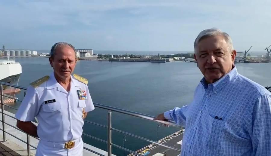 AMLO anuncia que la SeMar estará a cargo de todos los puertos de México