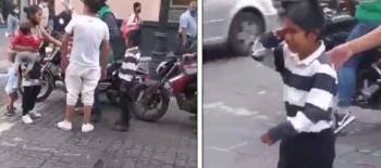 Video: Funcionario de la CDMX retira mercancía a niño, lo hace llorar