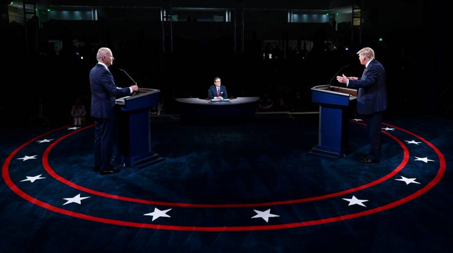 """En el primer debate para la presidencia de EU Biden le dice """"payaso"""" a Trump"""