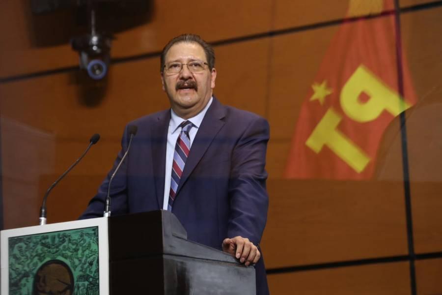 """""""El PT, locomotora de la construcción de la 4T"""": Reginaldo Sandoval"""