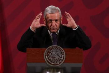 AMLO asegura que a la primera marcha con 100 mil personas en su contra y caída de popularidad en encuestas, dejará presidencia