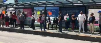 Saturación de Línea 4 de Metrobús, por uso de menos unidades, pone en riesgo a usuarios ante Covid-19