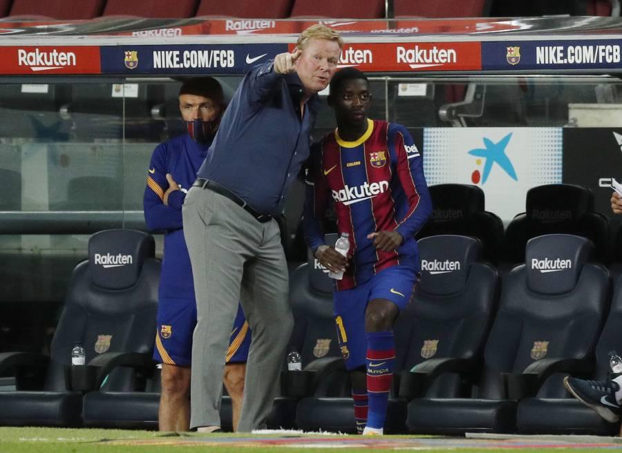 Dembélé tiene que pelear para ser titular en el Barca: Koeman