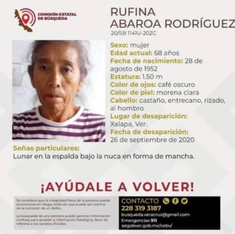 Desaparece en Veracruz, la activista Rufina Abaroa