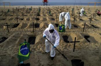 Brasil supera las mil muertes diarias por COVID-19, por primera vez en dos semanas