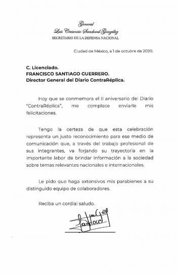 Felicitan a ContraRéplica por segundo aniversario