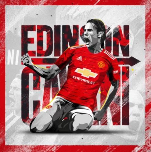 Oficial: Edinson Cavani llega al Manchester United