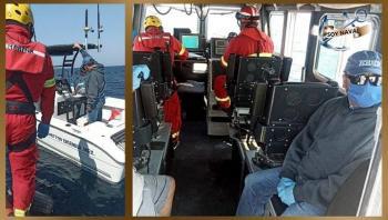 Marina rescata a tres personas varadas en costas de Ensenada, Baja California