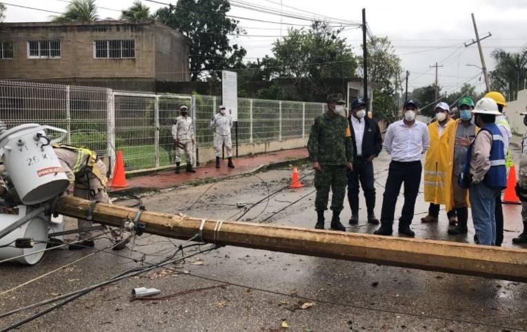 """""""Delta"""" deja más de 300 mil afectados en Yucatán; solicitan Declaratoria de Emergencia"""