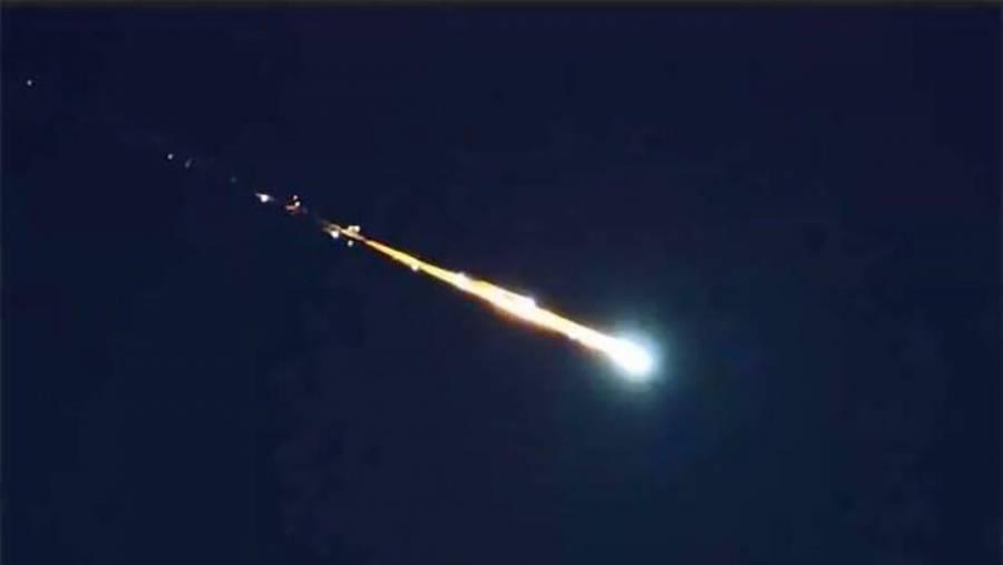 VIDEO: Caída de meteorito impacta a regios; lo buscan en Tamaulipas