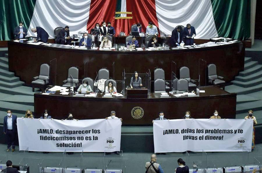 Retoman discusión y pleitos en Cámara de Diputados por reservas de extinción de fideicomisos