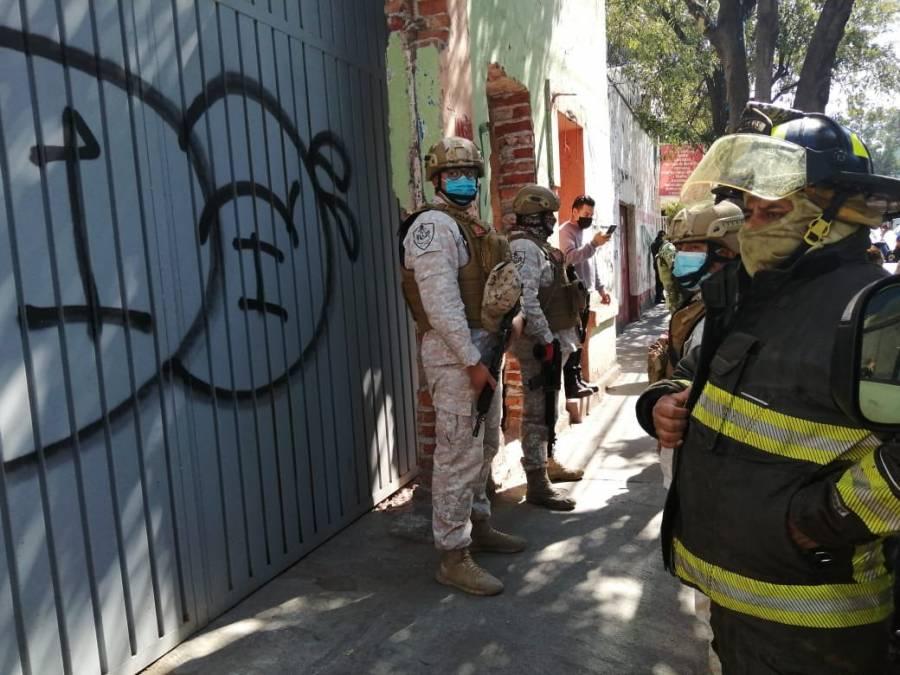 Hallan toma clandestina en bodega falsa en Popotla, alcaldía Miguel Hidalgo