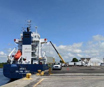 Inicia ruta piloto de transporte marítimo de Puerto Chiapas-Puerto Quetzal