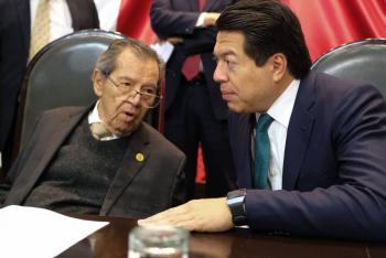Empatan Mario Delgado y Muñoz Ledo; INE hará encuesta de desempate